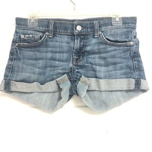 7 For All Mankind 26 Jean Shorts Distressed
